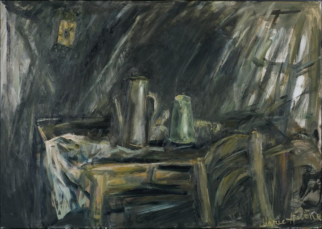 Huile sur toile 70 X 100 cm Photographie Jacques Bétant Lausanne