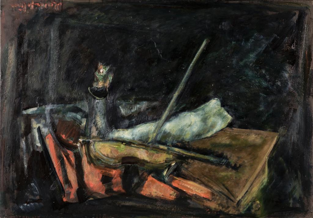 """huile sur toile, 66 X 99 cm , 2009 Signée au dos """" Octobre 2009 """" Sur la face,sgnature ancienne,inversée,en haut à gauche."""